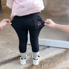 Новое поступление, утепленные штаны для мальчиков и девочек, осенние модные мягкие детские штаны, 2-7 лет