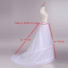 Trem hoop saia novo 2 anéis vestido de casamento branco underskirt petticoat