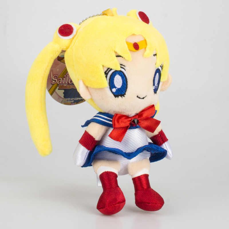 """Anime marin lune poupées en peluche Tsukino Usagi Chibi usa 6 """"Chiba Mamo jouets en peluche porte-clés pendentif à breloques filles mignonnes enfants cadeau"""