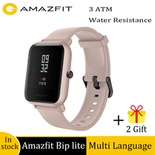 Global Version Amazfit Bip Lite Waterproof Swimming Smart Watch 45 Days Battery Life Heart Rate Tracking Call Message reminder