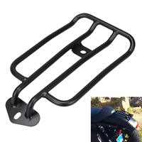 Motorcycle Black Steel Standard Rear Fender Rack Plated Luggage Shelf For Solo Seat For HD Harley 2004 UP LATER XL SPORTSTER