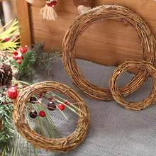 DIY Decor 6-50cm Rattan Ring parrot Toy wood Artificial Flower garden Dried Plant GIFT Christmas Decoration DIY Floral Wreaths