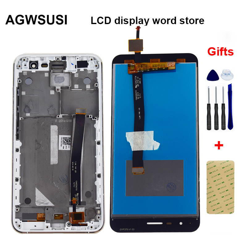 For Asus ZenFone 3 ZE520KL Z017D Z017DA Z017DB LCD Display Monitor Screen + Touch Screen Digitizer Sensor Panel Assembly Frame