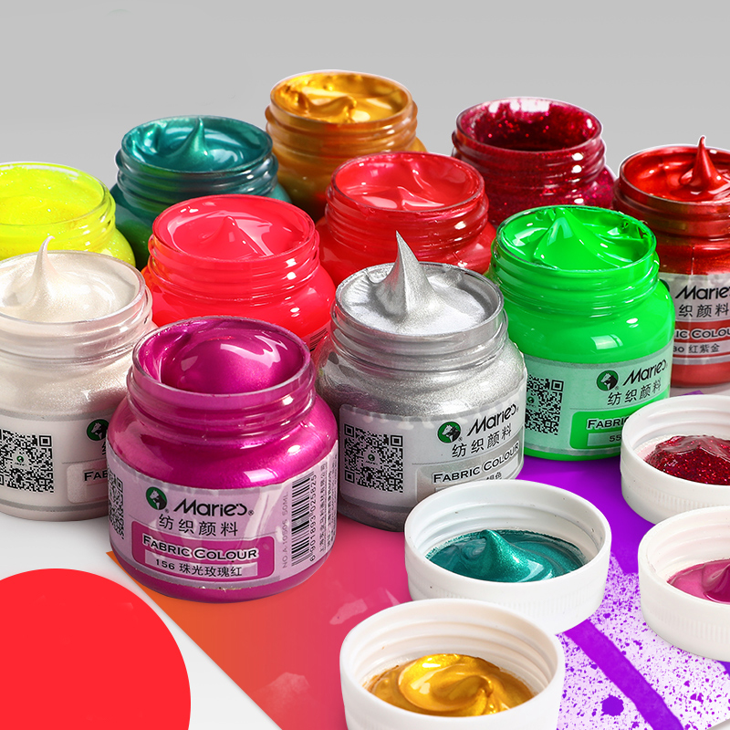 DIY Graffiti Pigment Fluorescent Textile Fiber Pigment Suit Clothes Dye Waterproof T-shirt Graffiti Paint Painting Supplies