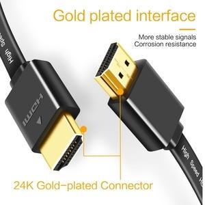 Image 4 - Vergulde Plug Dunne Hdmi Platte Kabel 1080 P 3D Man Man 0.3 M 0.5M 1M 1.5M Hoge Snelheid Resolutie Hdmi Kabel Voor Hdtv Pc Xbox Dvd