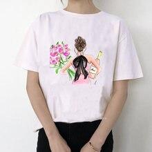 Лидер продаж 2020 модная футболка женская с принтом розовых