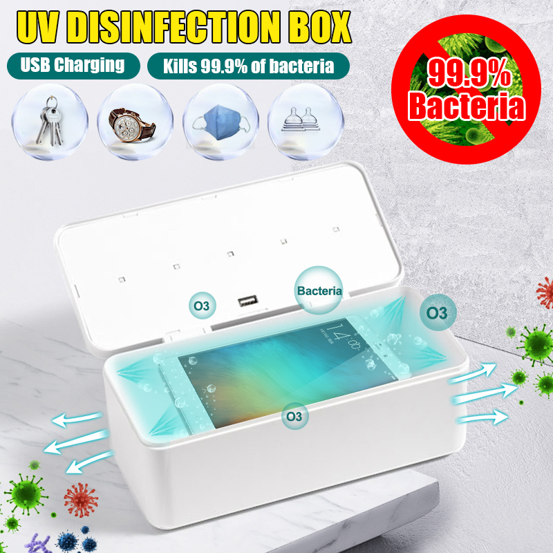UV Light Phone Sterilizer Box Jewelry Phones Mask Key Nail Watch Cleaner Personal Sanitizer Disinfection Cabinet Esterilizador