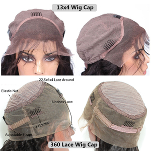 Image 5 - 13x6 Lace Front Human Hair Wigs For Women 250 Density Body Wave 360 Lace Frontal Wig Fake Scalp Bob 370 Closure Full 30 Inch Wig
