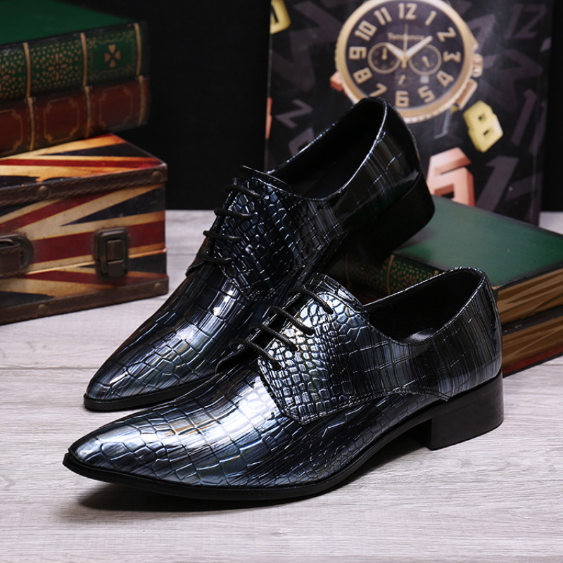 New Fashion Formal Men Oxford Shoes Big Size Genuine Leather Pointed Toe Brogue Shoes Men Lace Up Business Dress Shoes Hombre