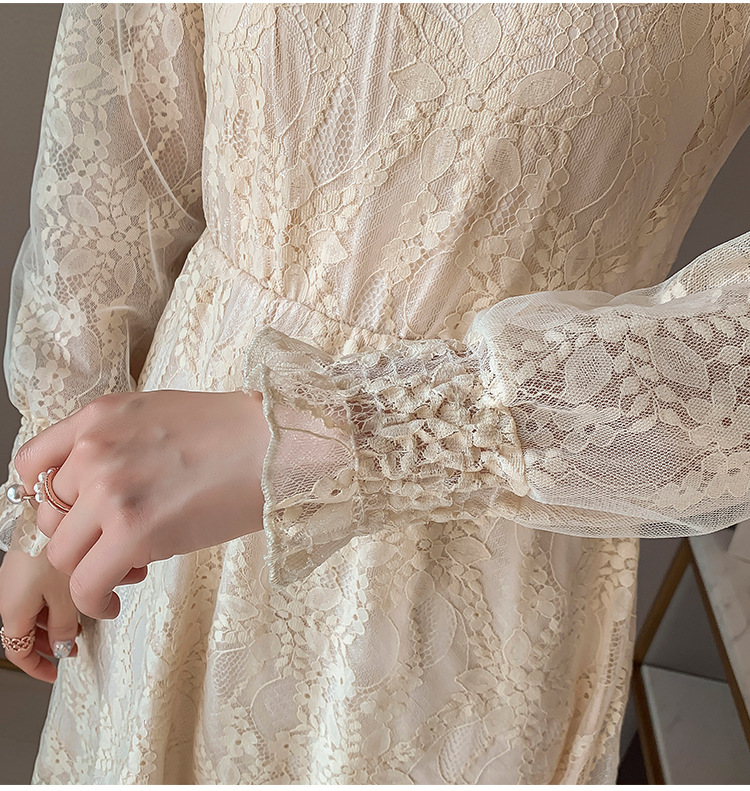 2020 Maternity clothing summer twinset lace maternity one-piece dress white embroidery maternity dress For Pregnant (19)