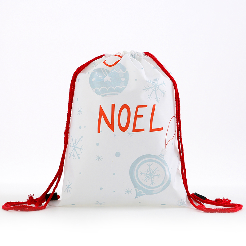 Drawstring New Fashion Backpack Women Mini Backpack 3D Printing Travel Softback Bags Men Bag Girs  Santa  Multicolor Rope Bags