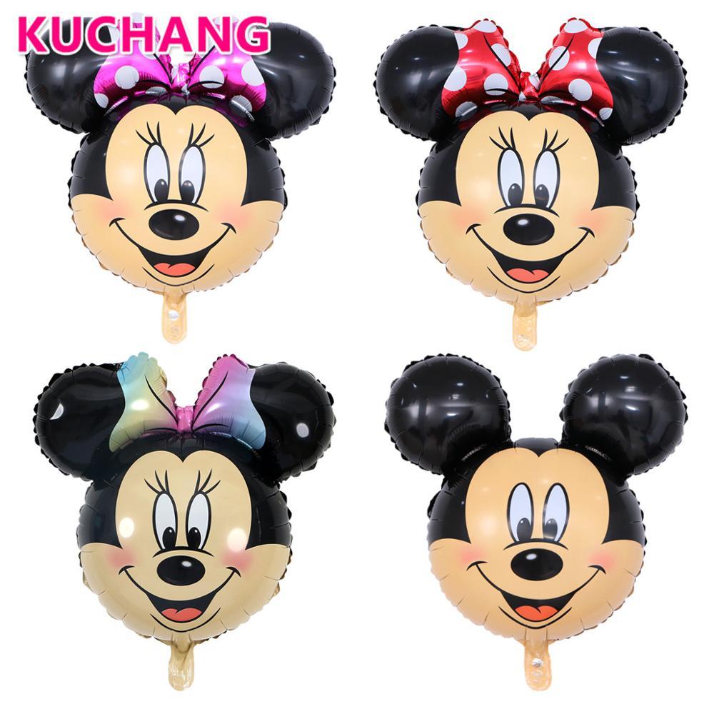 50 stuks Big Size Cartoon Mickey Minnie Mouse Head Aluminium Folie Ballonnen Kid's Verjaardag Bruiloft Decor Baby Shower levert-in Ballonnen & Accessoires van Huis & Tuin op  Groep 1