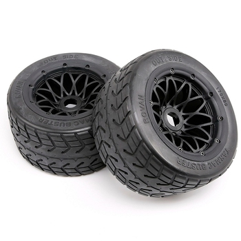 Road Tire with Wheel Hub Set for 1/5 Hpi Km Baja 5B SS Tyres and Wheel Hub Set -Rear free shipping aluminum front hub carrier set of 2 fits hpi baja 5b ss 2 0 5t 5sc king motor and rovan buggies and trucks