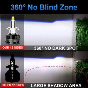 Image 5 - H1 H7 светодиодный H8 H11 HB3 9005 HB4 9006 12 Сторон 3D светодиодный головной светильник s мини высокой мощности 30000LM автомобильный светильник лампы 360 градусов диод для автомобильных фар