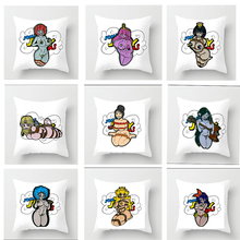 45*45cm New Square Beauty girl sexy Throw  Couple Pillow Case Cartoon Pattern sweetheart Pillowcase For Home Pillow Cover hot sale merry christmas pillow case square pillow cases new year cartoon pillow covers size 45 45cm
