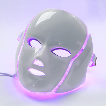7 Color Photon LED Facial Neck Mask For Skin Rejuvenation, Acne, Pore, Anti-Aging Beauty Light Therapy Light For Home Use