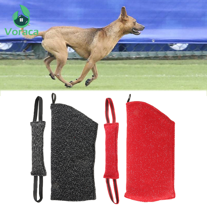 1pc Durable Dog Bite Arm Protection Sleeves Sleeve Pet Bite Tug Stick Toy 2 Rope Professional Training Supplies Outdoor Home