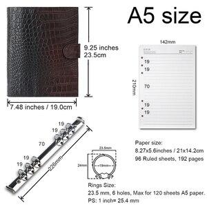 "Image 4 - 175x110 מ""מ גודל נייד מחברת עור אמיתית בעבודת יד Sketchbook מחברת נוסעי יומן כתב עת מתכנן vintage סגנון"