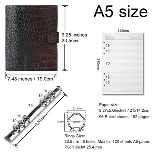 Image 4 - Limited Imperfect Rings Notebook A5 Agenda Organizer Cowhide Diary Journal Sketchbook Planner Business Office School Stationery