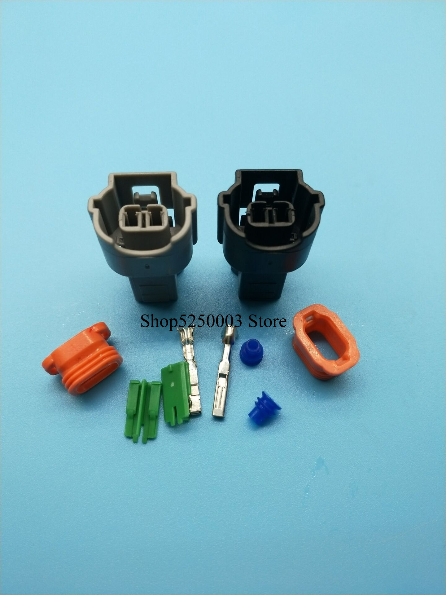 5set <font><b>KUM</b></font> 2 pin waterproof automotive female wire terminal <font><b>connector</b></font> PU465-02127 image