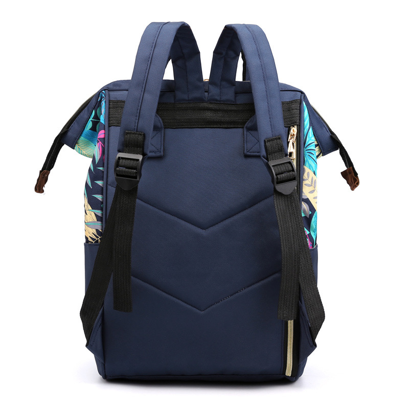 New Style Multi-functional WOMEN'S Bag Nylon Backpack Mulitcolor Leaves Diaper Bag Large Capacity Mommy Bag MOTHER'S Bag