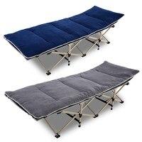 Cama dobrável portátil reforçada único escritório almoço reclinável nap cama simples acompanhamento acampamento cama