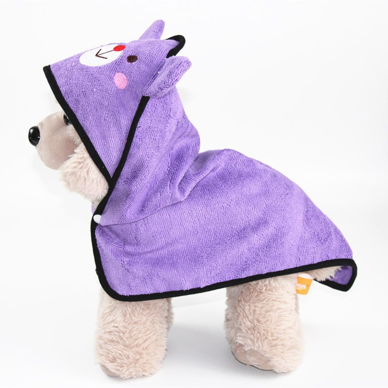 Cute Pet Dog Cat Towel Pets Drying Bath Towels with Hoodies Warm Blanket Soft Drying Cartoon Puppy Super Absorbent Bathrobes 14