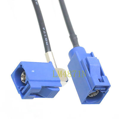 DHL/EMS 10 LOTS Cable Fakra SMB C Female To Jack Right Angle RG174 16FT Pigtail MFD2 RNS2 RNS-E -d2