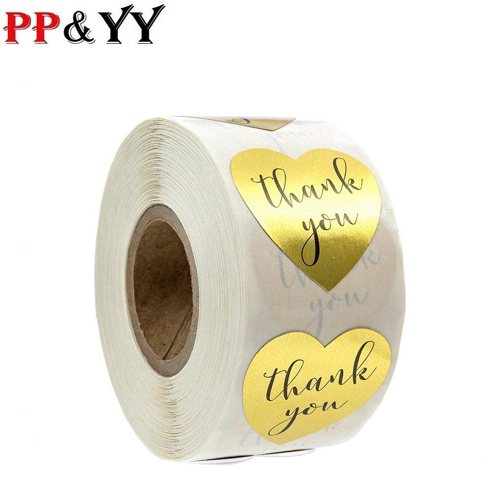 Sello de pegatinas con forma de corazón dorado, 500 etiquetas adhesivas para álbum de recortes, adhesivo de papelería, 1 pulgada/rollo Adhesivos de fútbol para pared, decoración para habitación de niños, deportes, habitación de niño