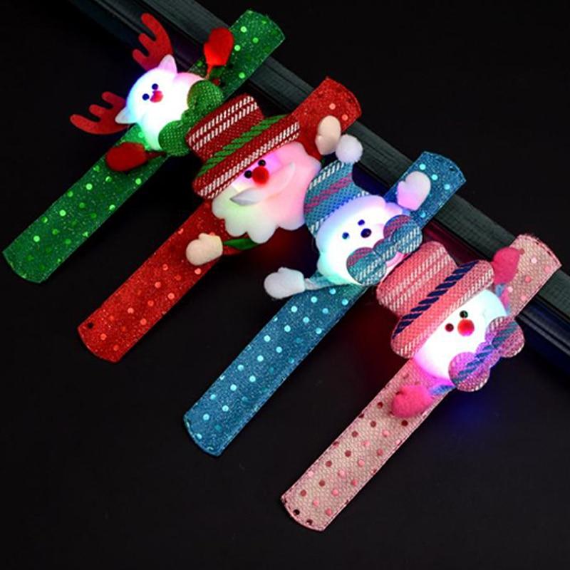 LED bonhomme de neige noël enfants cadeaux père noël fête Bracelet vacances LED/lueur Bracelet noël nouvel an décoration