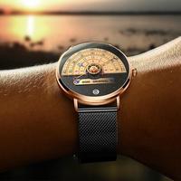 Dom 크리 에이 티브 다이얼 디자인 남자 시계 2020 스포츠 남자 쿼츠 시계 날짜 방수 남성 손목 시계 망 스테인레스 스틸 시계