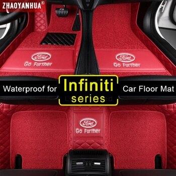 3D Waterproof Car Mats for Infiniti EX25 EX35 EX37 FX35 FX37 FX45 FX50 JX35 Accessories Leather floor mats Carpet