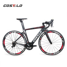 2019 Costelo Speedcoupe full carbon fiber road bike frame complete bicycle with 40mm wheels group cheap bike free shipping