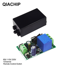 QIACHIP 433 MHz AC 85V 110V 220V 1 CH Wireless Remote Control Receiver Relay Switch Module LED Light Lamp Controller 433.92 MHz