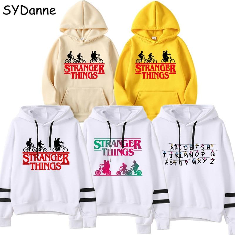 Kpop Stranger Things 3 Hoodies Sweatshirts Cosplay Eleven Hooded Sweater Kawaii Girls Hopper Hip Hop Hoodie Sweatshirt Men Women