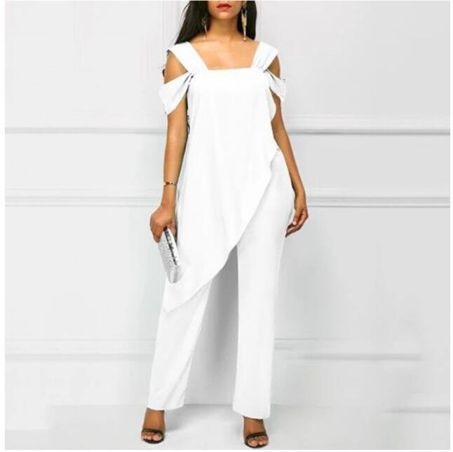 1 piece Plus Size 5XL Women's High Waist Slim Sleeveless Jumpsuits Casual Irregular Spaghetti Pencil Solid Jumpsuit Romper|Jumpsuits| - AliExpress