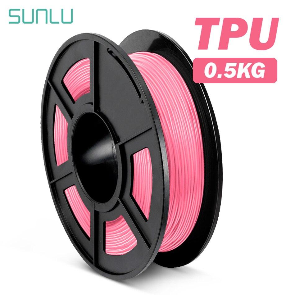 SUNLU ТПУ Гибкая нить 0,5 кг 1,75 TPU Филамент 3D-принтеры гибкий 3D печать Материал