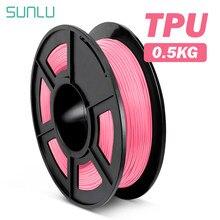 Material flexível da impressão 3d da impressora 3d do filamento flexível 0.5kg 1.75 tpu do filamento de sunlu tpu