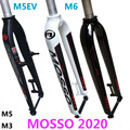 2020 Mosso вилка M6 M5 M5E M5EV M3 MTB Велосипедная вилка подходит для 26 27 5 29er дорожный велосипед вилка v тормоза передние вилки конус глянцевый/матовый