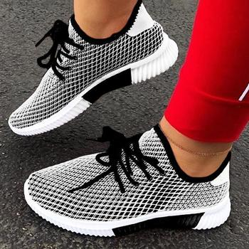 2020 Fashion Vulcanized Shoes Woman Outdoor Lightweight Casual Shoes Breathable Lace Up Sneakers Shoes Women Zapatillas Mujer