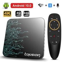 2021 Android ТВ Box Android 10 2,4G и 5,8G, Wi-Fi, 32G 64G 4k 3D Bluetooth ТВ приемник медиа-проигрыватель ТВ-приставка + высокое качество Декодер каналов кабельного телев...