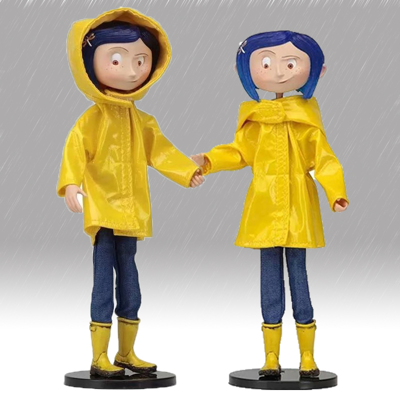 NECA Coraline With Yellow Raincoat Action Figure Toy Doll Gift For Christmas Children Birthday Gift Decoration