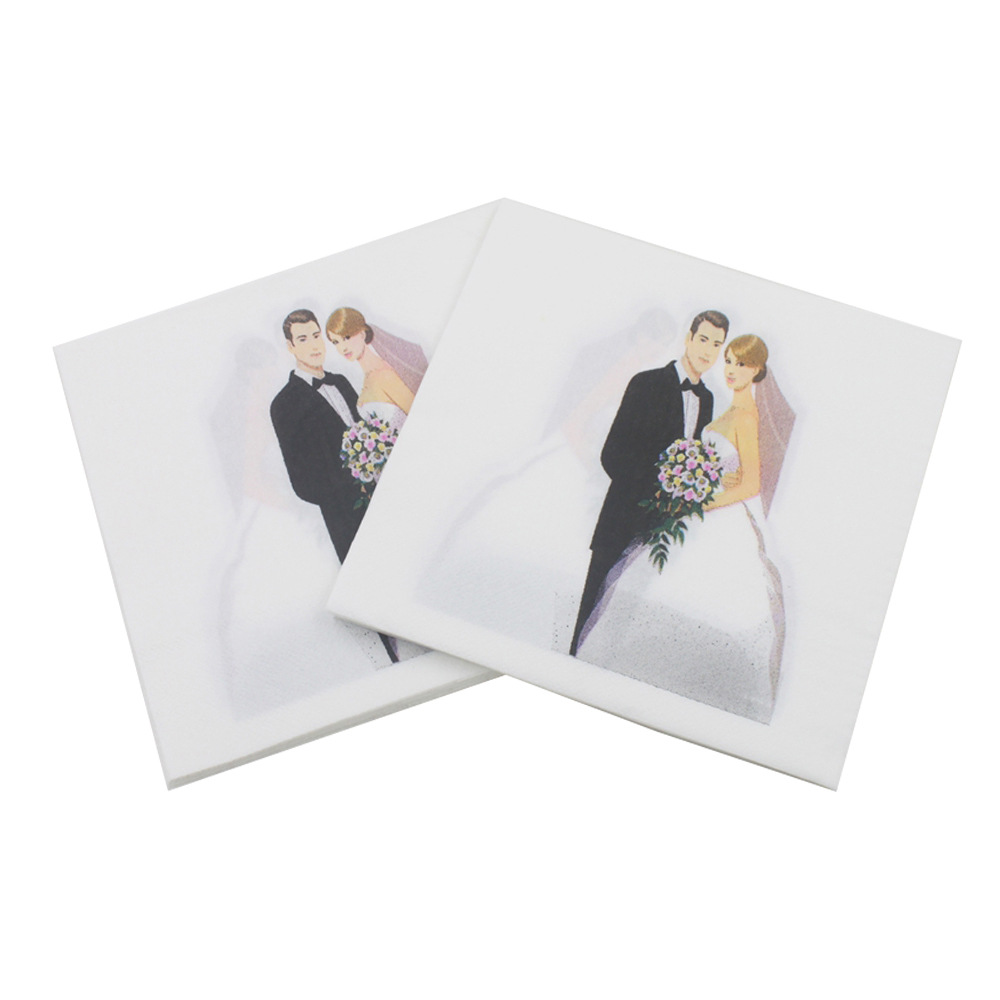 [Currently Available] Color Printed Napkin Printed Paper Towel Wedding Creative Tissue Kleenex