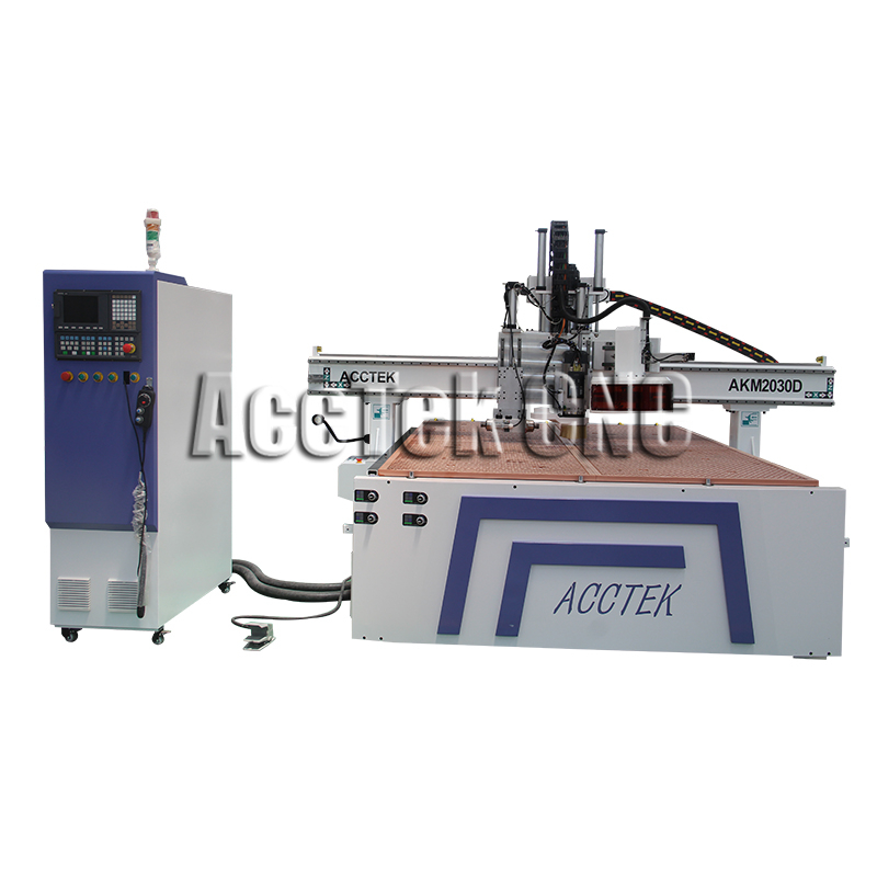 AccTek 2030 Atc Cnc Router 3d Wood Cutting Machine Woodworking Machinery With Linear Or Carousel Tool Changer