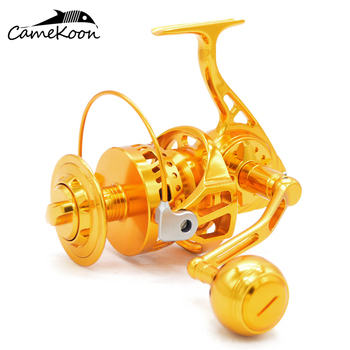 CAMEKOON Full Metal Saltwater Spinning Fishing Reel 12+1 Ball Bearings Max Drag 38KG Anti-corrosion Coil