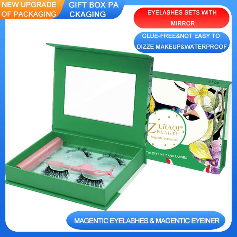<font><b>Shozy</b></font> <font><b>Magnetic</b></font> <font><b>Eyelashes</b></font> with Eyeliner and Applicator Handmade 3D <font><b>Magnetic</b></font> Lashes False <font><b>Eyelashes</b></font> with Exquisite Gift Box-ZY image