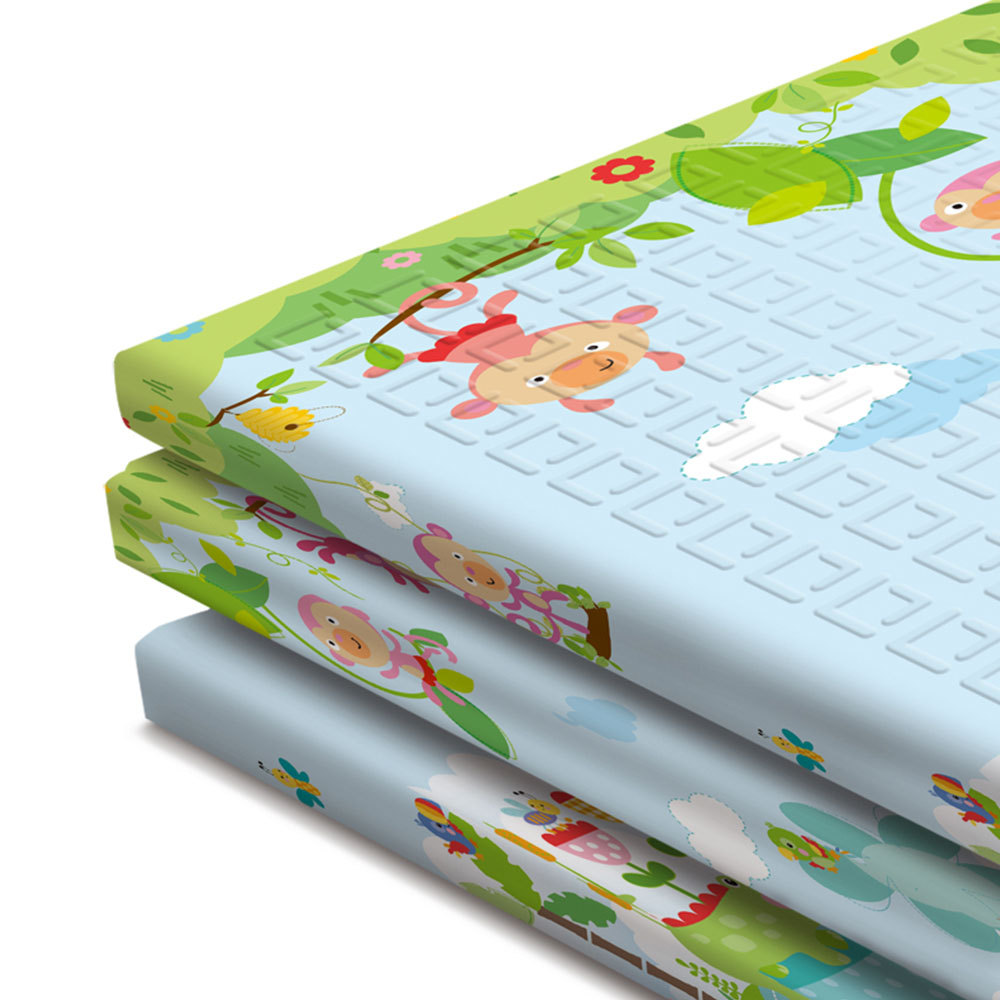 Tapis de jeu anti-dérapant pour bébé tapis de jeu pliant pour enfants tapis de jeu en mousse souple tapis rampant pour matelas de jeu tapis d'activité pour bébé - 2