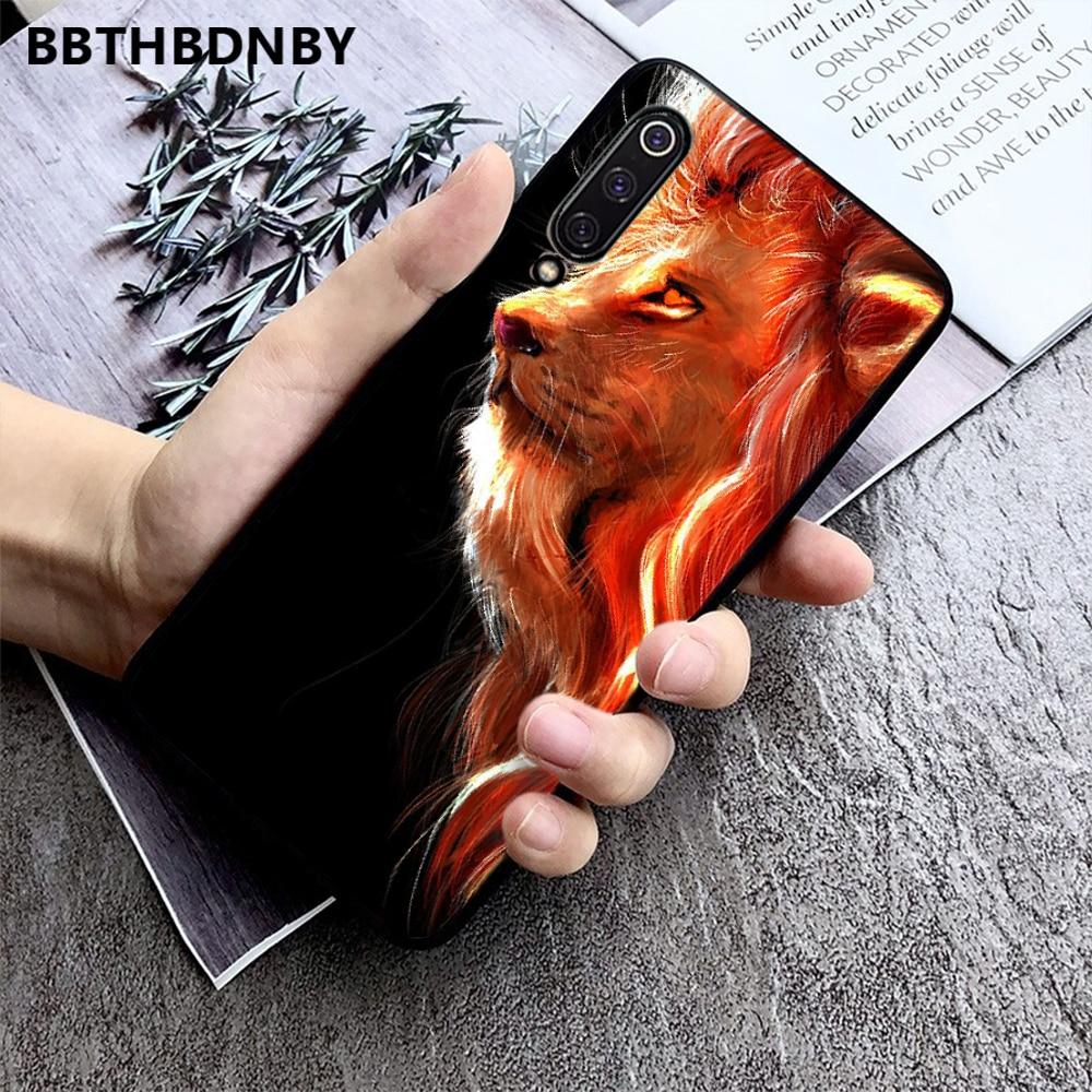 Carcasa de teléfono con estampado DIY de cabeza de Rey León, carcasa parachoques para Xiaomi Redmi 4x5 plus 6A 7 7A 8 mi8 8lite 9 note 4 5 7 8 pro