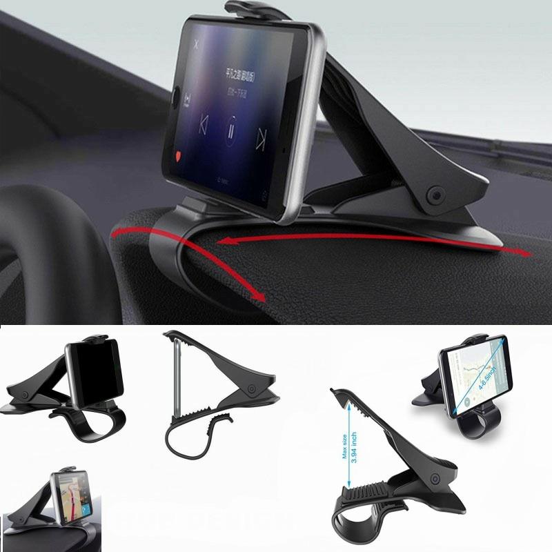 Car Phone Holder Dashboard Mount Universal Cradle Cellphone Clip GPS Bracket Mobile Phone Holder Stand for Phone in Car HUD