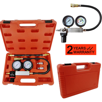 Cylinder Leak Tester Petrol Engine Compression Leakage Leakdown Tester Detector Kit Detect A Variety Of Common Engine Faults